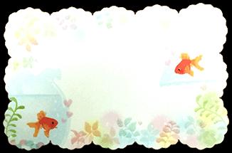 カード.夏(金魚)